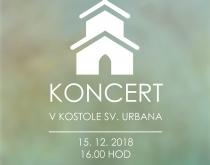 Vianočný koncert v kostole Sv. Urbana 15.12.2018